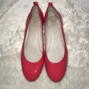 Vince Camuto Leather Coral Flats Size 7.5